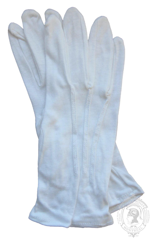Gants de cérémonie en cotton blanc