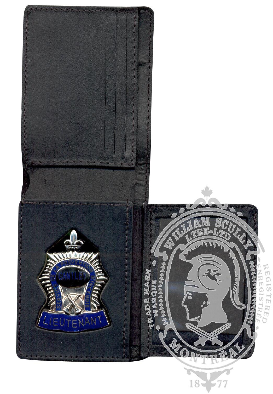 Portefeuille pour insigne pompier