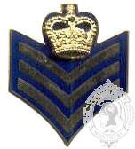 Insignes de collet sergent GRC / sergent d'état-major CCC caporal (paire)