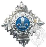 Étoile fleur de lys Québec 6-1018 argent avec vis (paire)