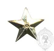 Étoile 5 points 6-1034 avec pattes en metal (paire)