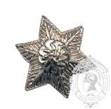 Étoile argent 6 points 6-1044S avec pattes en metal (paire)