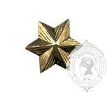 Étoile dorée 6 points 6-1045G avec pattes en métal (paire)